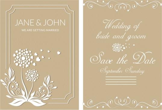 Wedding card design template free vector download (23,465 Free - wedding card template
