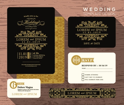 Wedding card design template free vector download (25,894 Free