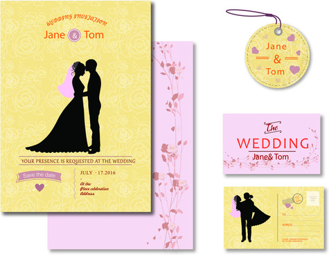 Wedding invitation template coreldraw free vector download (17,936 - wedding template