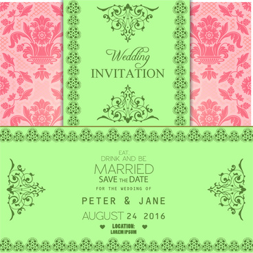 Editable wedding invitations free vector download (3,834 Free vector