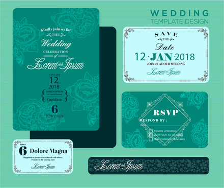 Editable wedding invitations free vector download (3,800 Free vector