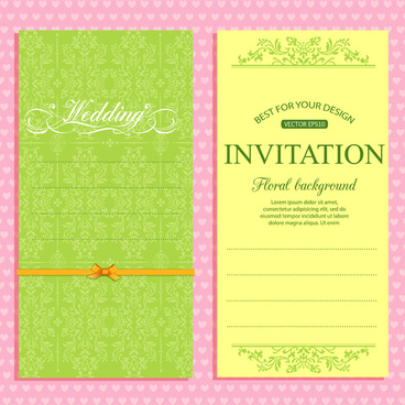 Wedding invitation vector free vector download (2,753 Free vector - invitation card formats