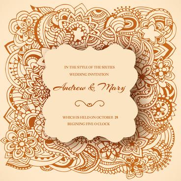Vector wedding invitation ornament free vector download (17,462 Free