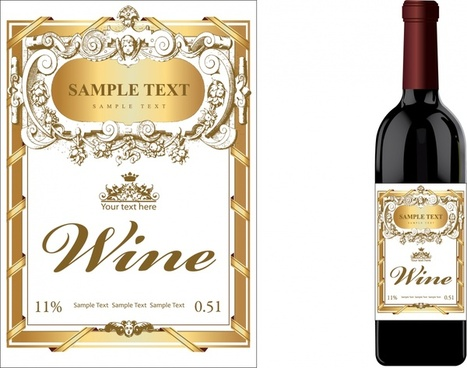 Wine label design free vector download (8,942 Free vector) for