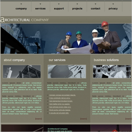 Architectural Company Template Free website templates in css, html - free profile templates