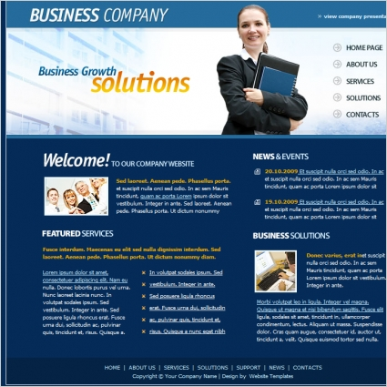 Business Company Template Free website templates in css, html, js