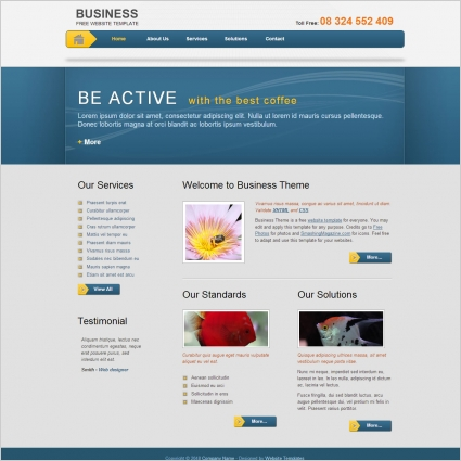 Business template Free website templates in css, html, js format for