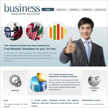 Business Worldwide Solutions Template Free website templates in css