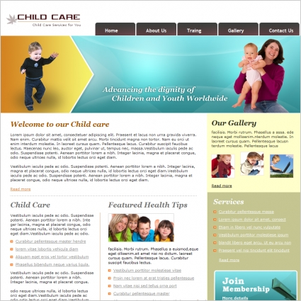 Child Care Template Free website templates in css, html, js format