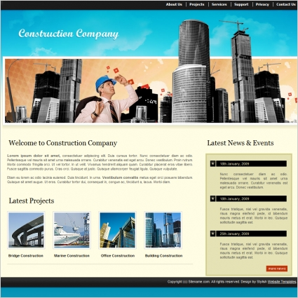 Construction Company Template Free website templates in css, html