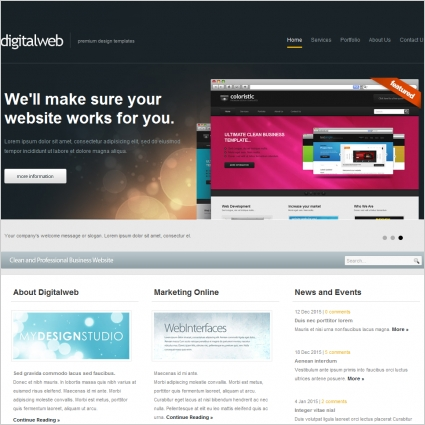 Digital Web Template Free website templates in css, html, js format