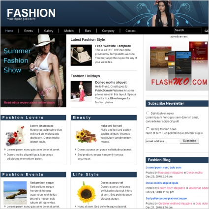 fashion Free website templates in css, html, js format for free