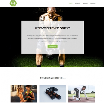 Fitness and gym website template Free website templates in css, html - Fitness Templates Free