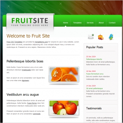 fruit site Free website templates in css, html, js format for free - simple website templates