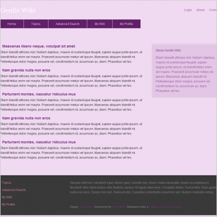 Gentle Wiki Template Free website templates in css, html, js format