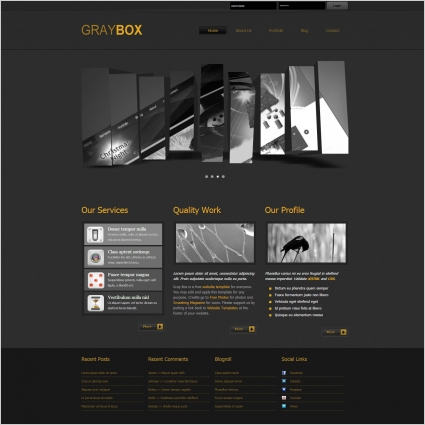 Company profile free website templates for free download about (16 - free profile templates