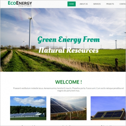 Green energy website template Free website templates in css, html