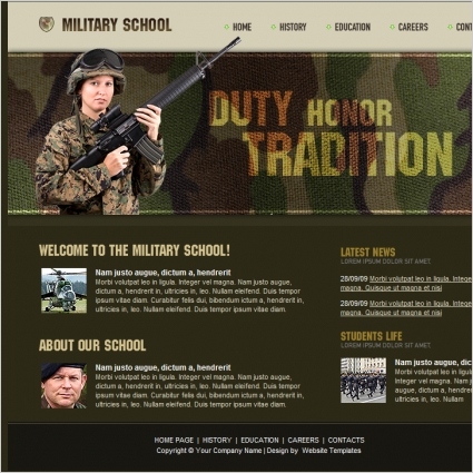 Military School Template Free website templates in css, html, js