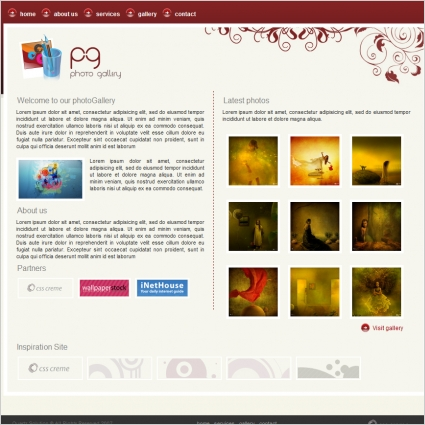 Photo Gallery Template Free website templates in css, html, js