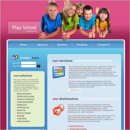 Play School Template Free website templates in css, html, js format