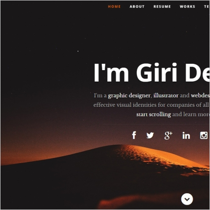 Profile website template Free website templates in css, html, js - free profile templates
