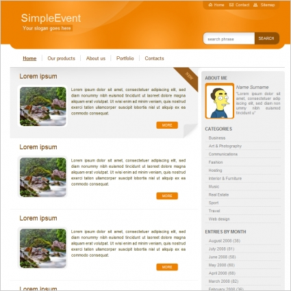 Simple Event Template Free website templates in css, html, js format - simple website templates