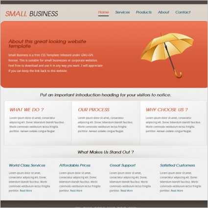 Small Business Template Free website templates in css, html, js
