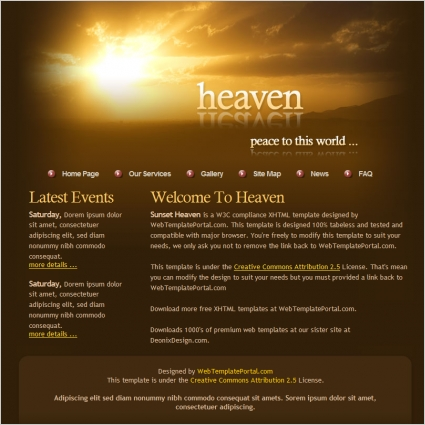 Angels free website templates for free download about (1) free - angels templates free