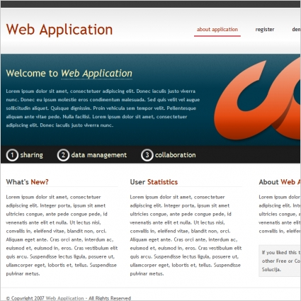 Web Application Template Free website templates in css, html, js