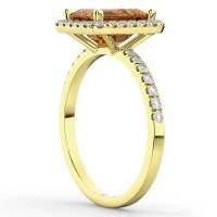 Emerald-Cut Citrine & Diamond Engagement Ring 14k Yellow ...
