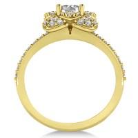 Diamond Flower Style Engagement Ring 14k Yellow Gold 1 ...