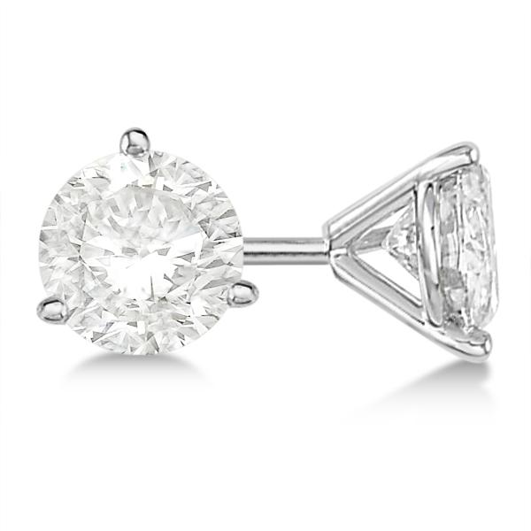 Round Diamond Stud Earrings 3