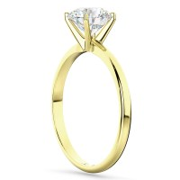 Four-Prong 14k Yellow Gold Solitaire Engagement Ring ...