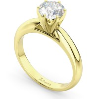 Six-Prong 14k Yellow Gold Solitaire Engagement Ring ...