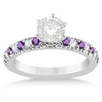 Amethyst & Diamond Engagement Ring Setting Platinum 0.54ct ...