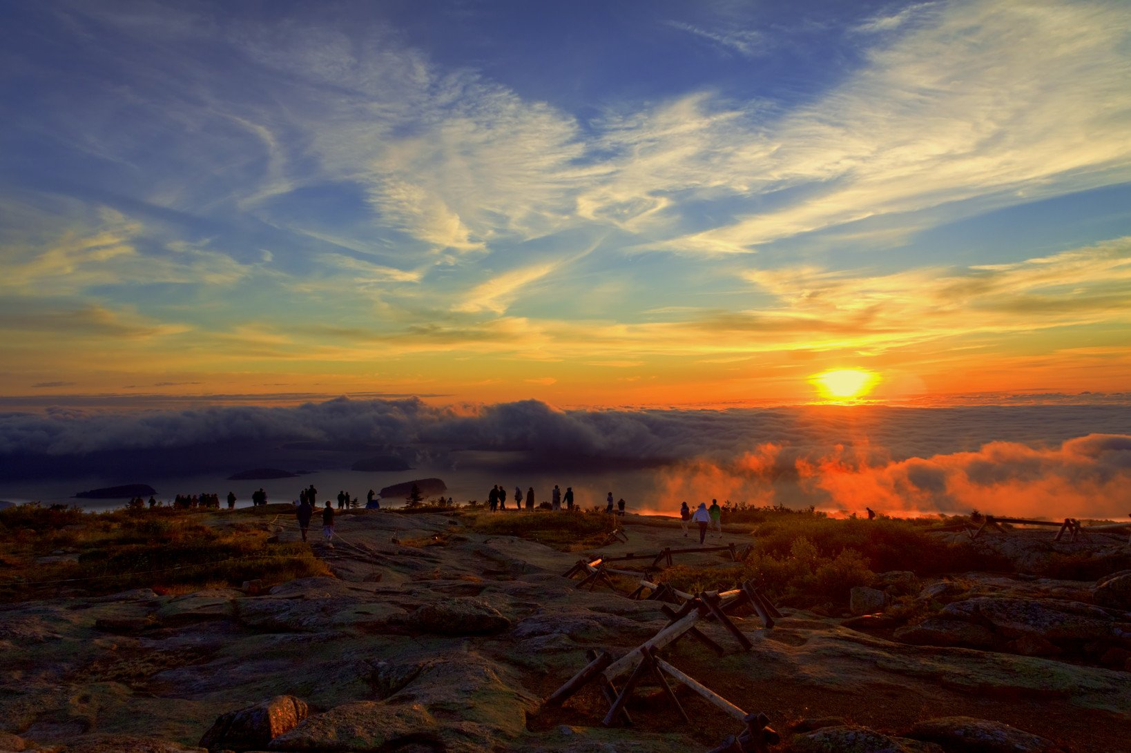 4k Hdr Wallpaper Iphone X Cadillac Mountain Sunrise Wallpaper And Background Image