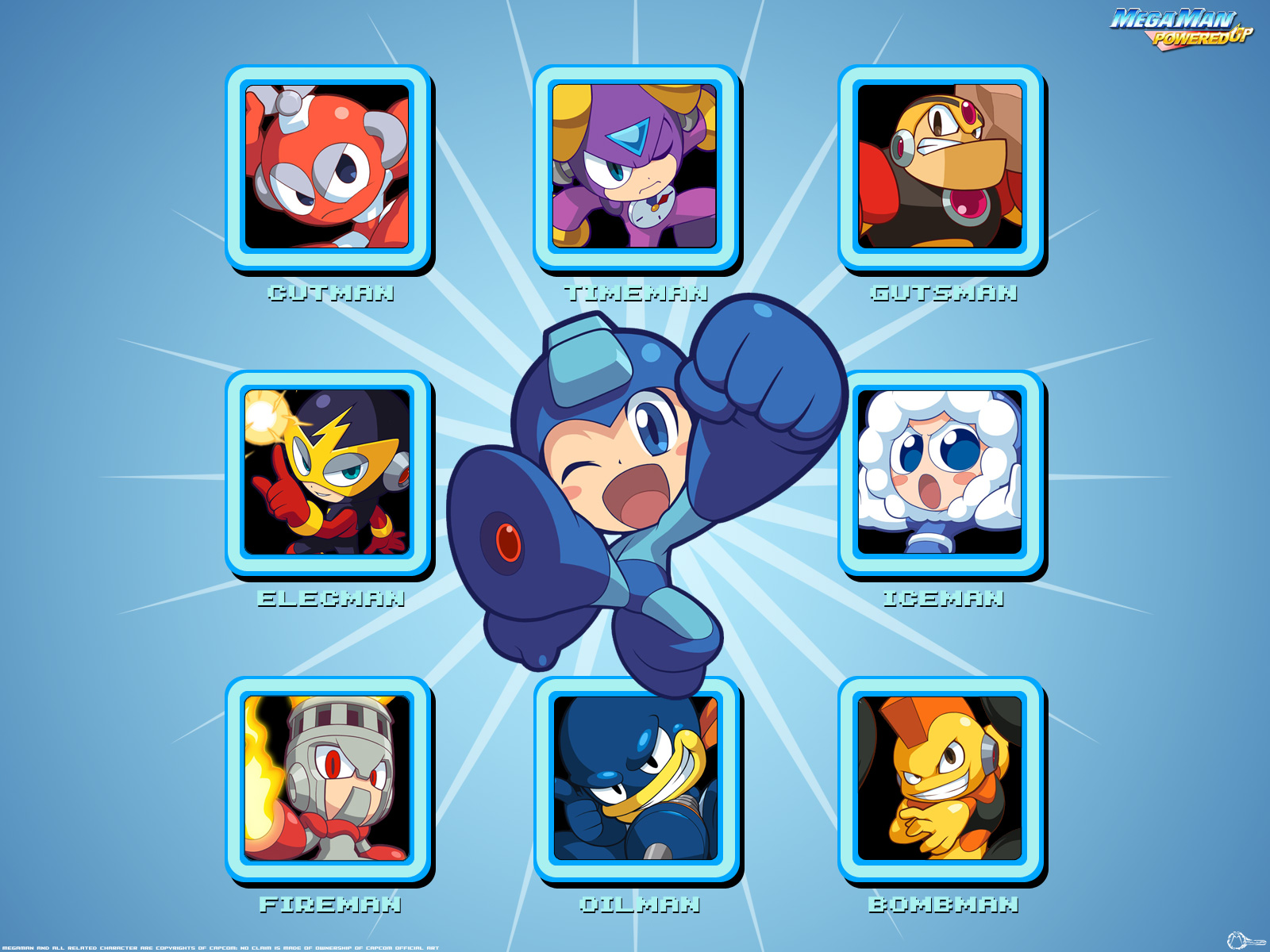Mega Man Iphone Wallpaper Mega Man Powered Up Wallpaper And Background Image