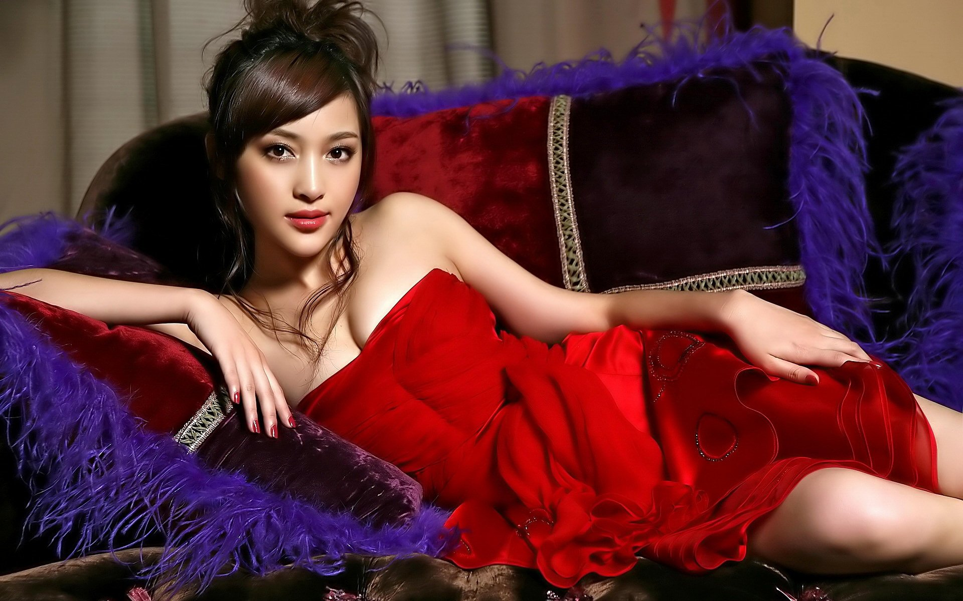 Sexy Asian Babe Hd Wallpaper Background Image