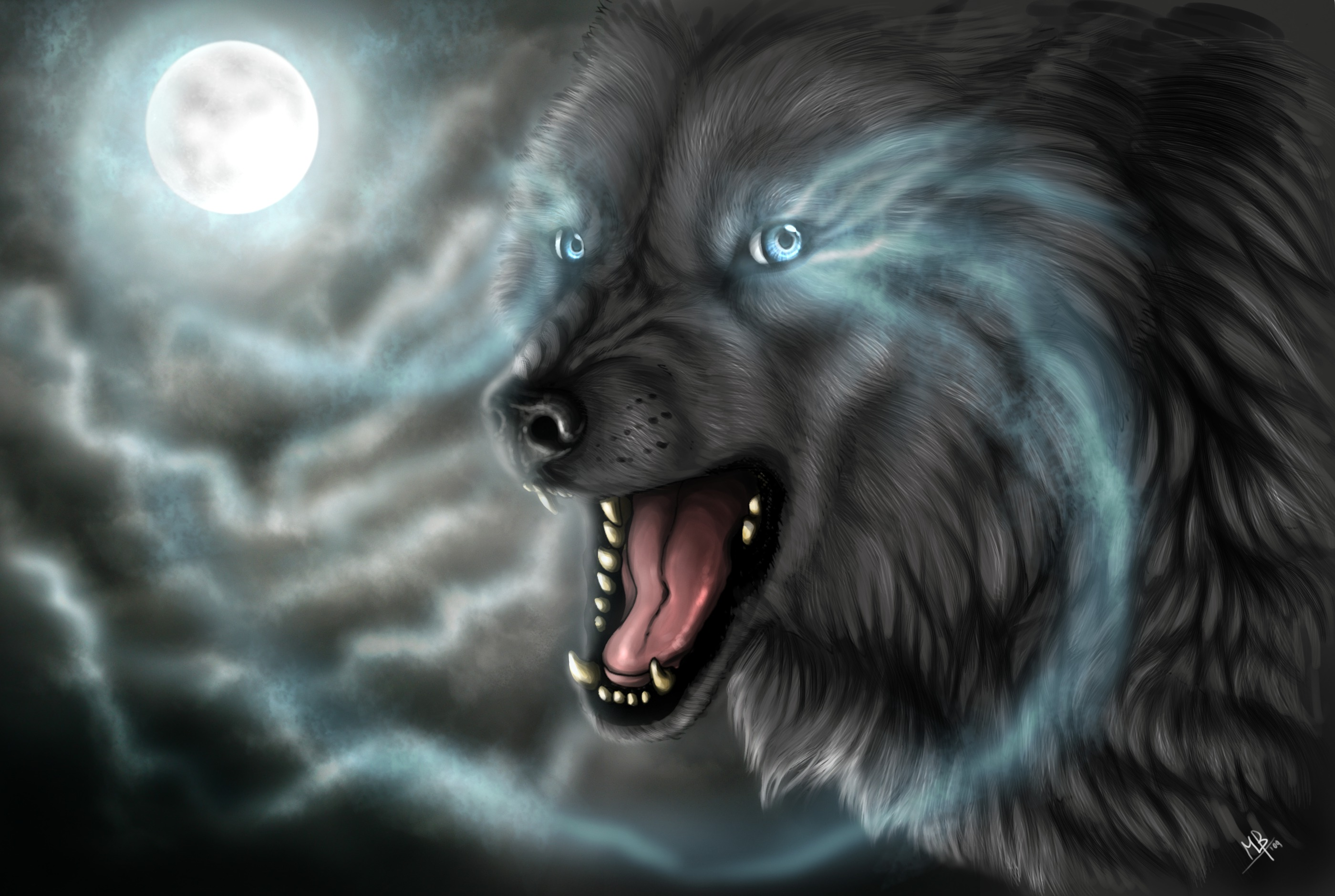Coole Wolf Bilder Full Moon Wolf Full Hd Wallpaper And Background