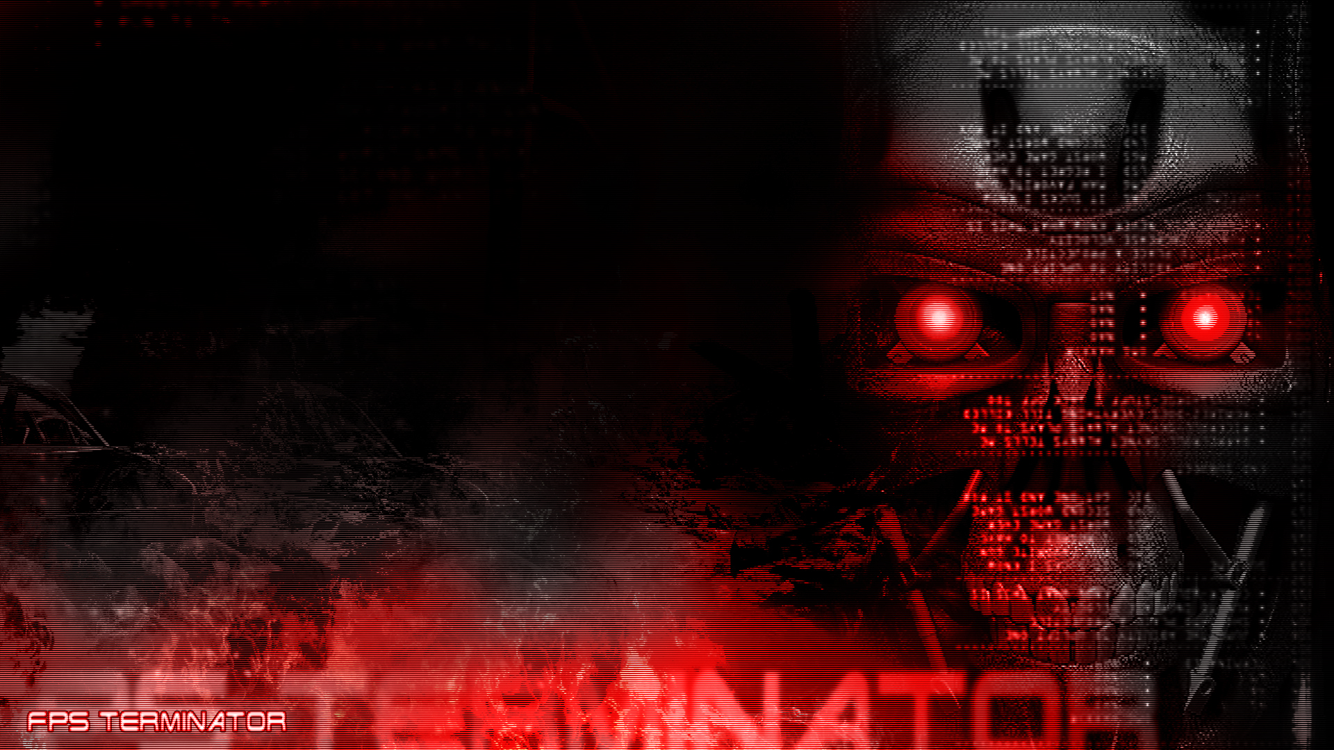 Black 3d Hd Wallpapers 1080p Widescreen Terminator Full Hd Wallpaper And Background Image