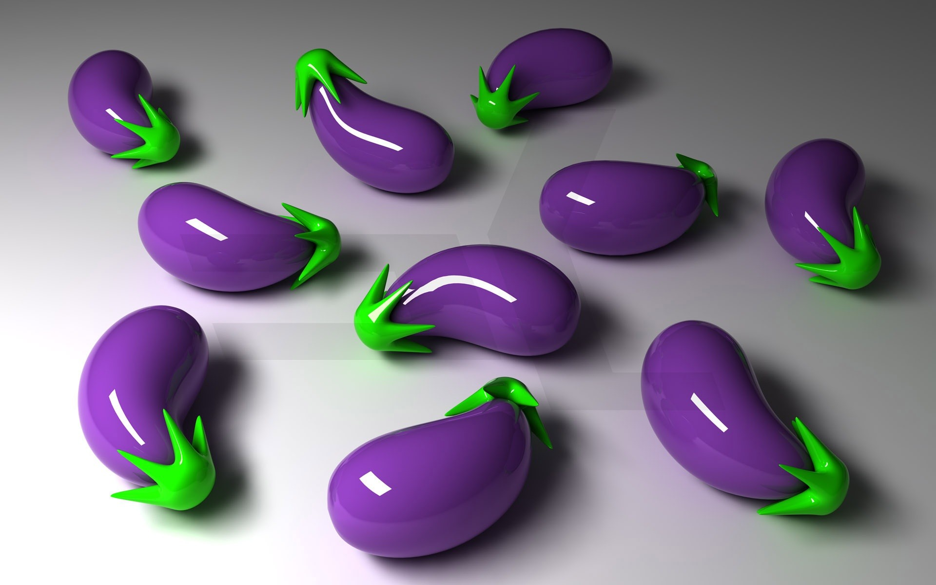 Wallpaper Hp 3d Eggplants Full Hd Wallpaper And Background Image