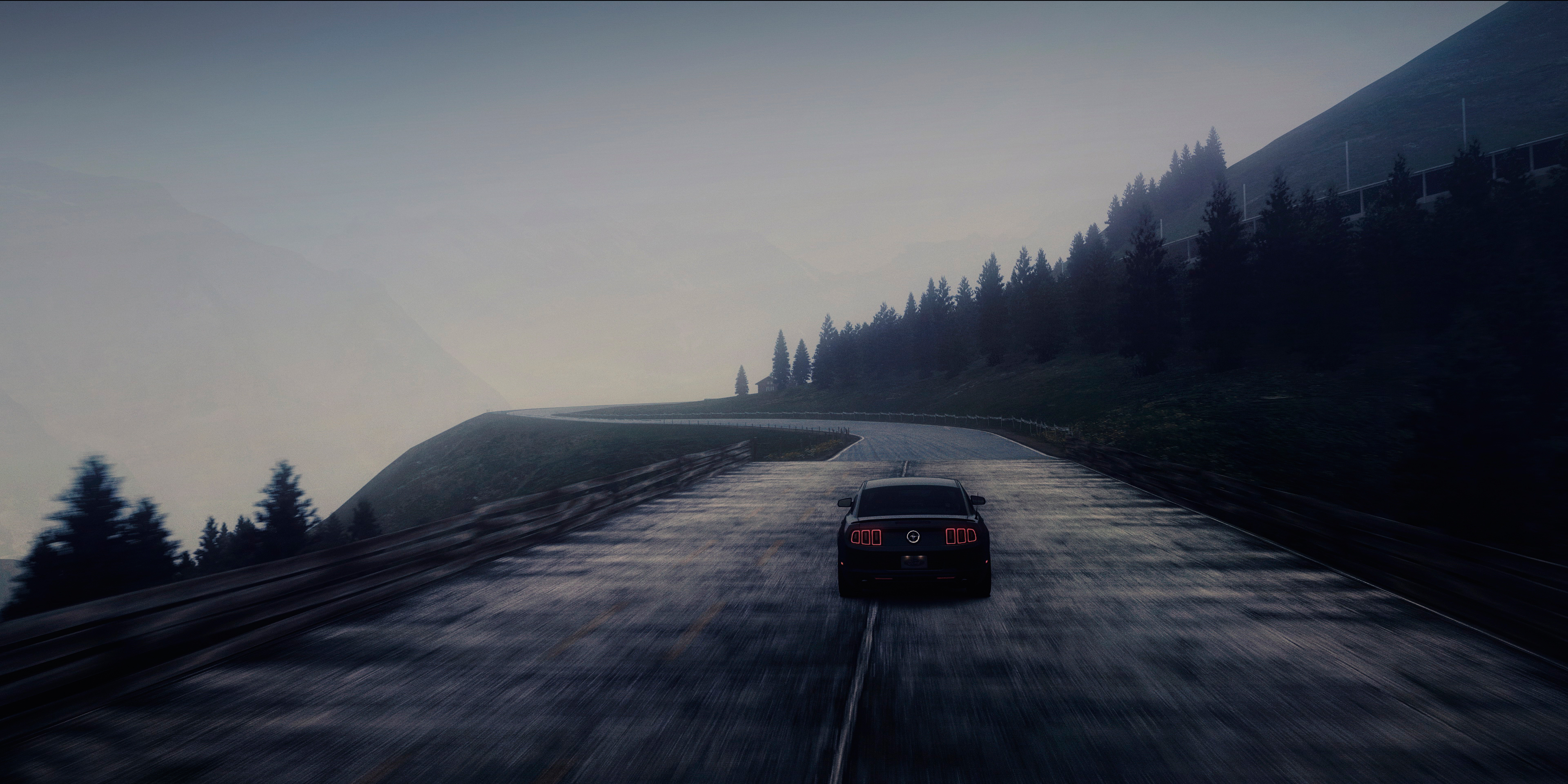 Car Dual Monitor Wallpaper 3840x1200 Ford Mustang Shelby Gt500 Full Hd Fond D 233 Cran And Arri 232 Re