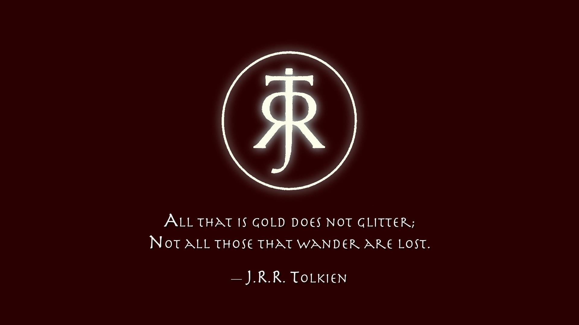 Desktop Wallpaper Tolkien Quote J R R Tolkien Quote Hd Wallpaper Background Image