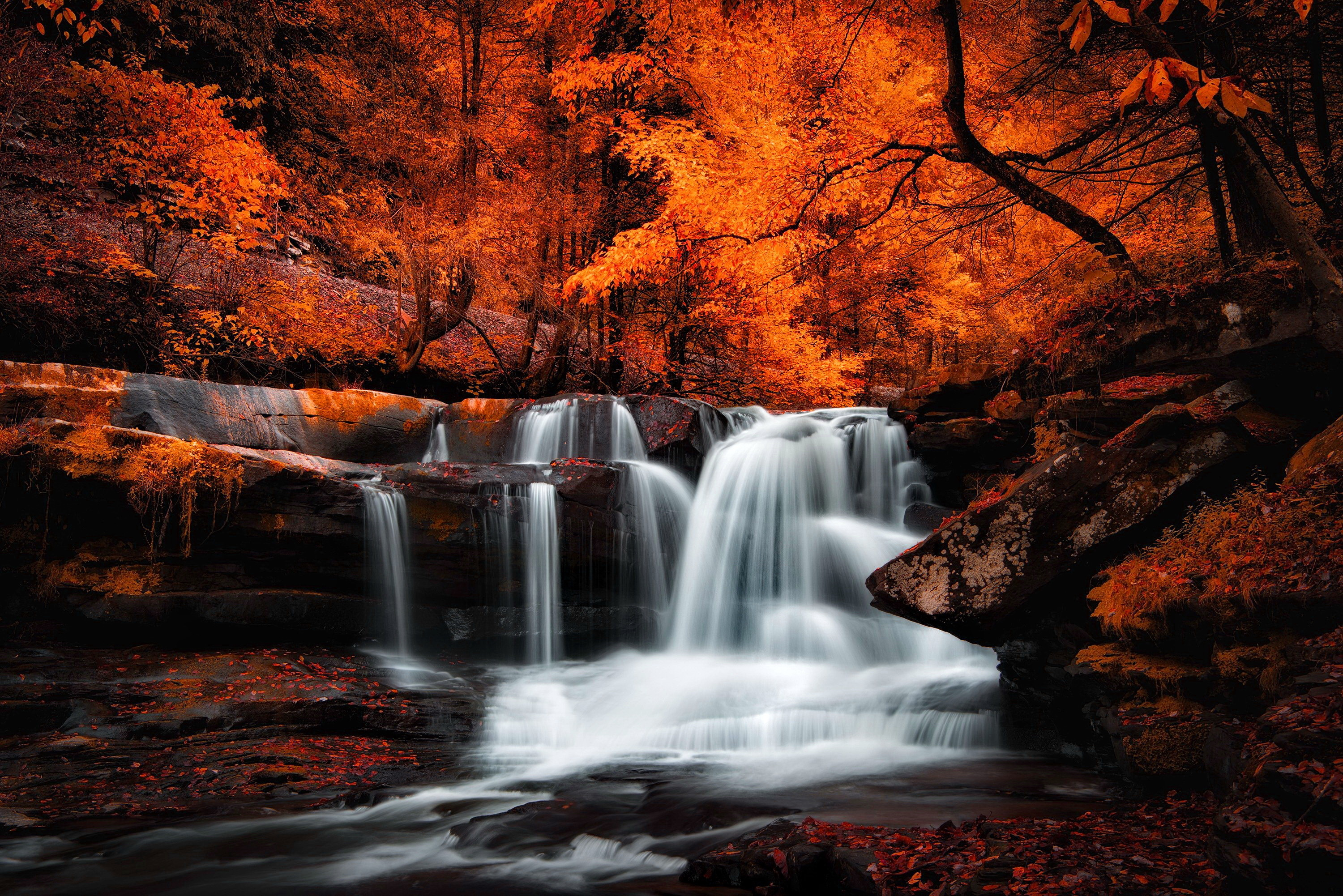 Fall Iphone 5 Wallpaper Waterfall Hd Wallpaper Background Image 3000x2002 Id