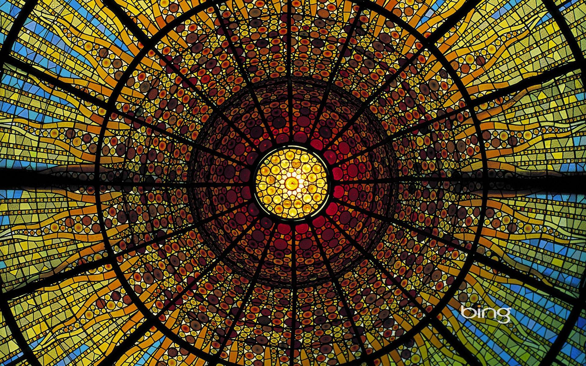Bing Fall Desktop Wallpaper Hecho Por El Hombre Palau De La M 250 Sica Catalana Barcelona