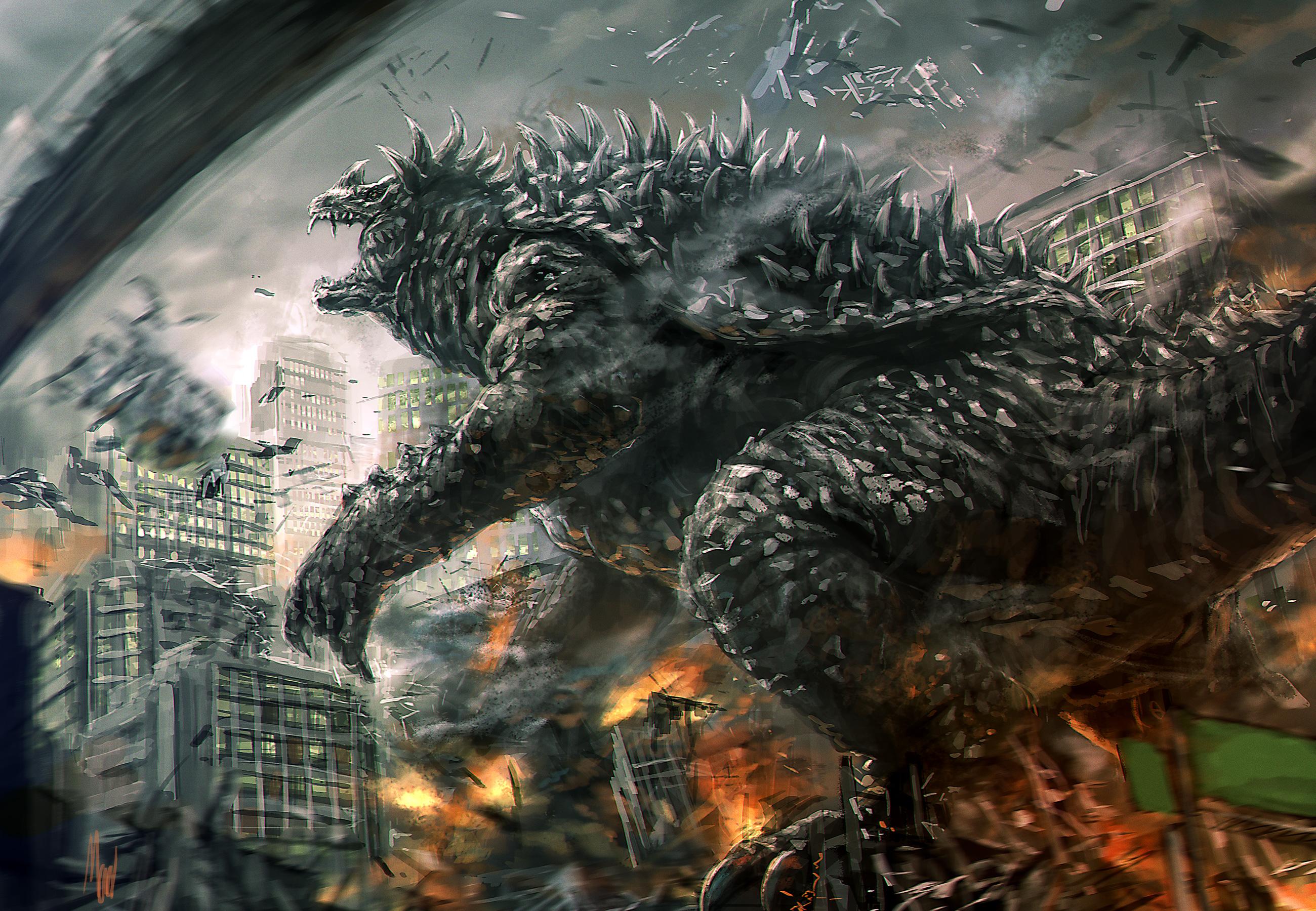 Iphone 8 Plus X Ray Wallpaper Godzilla Raids Again Full Hd Fondo De Pantalla And Fondo