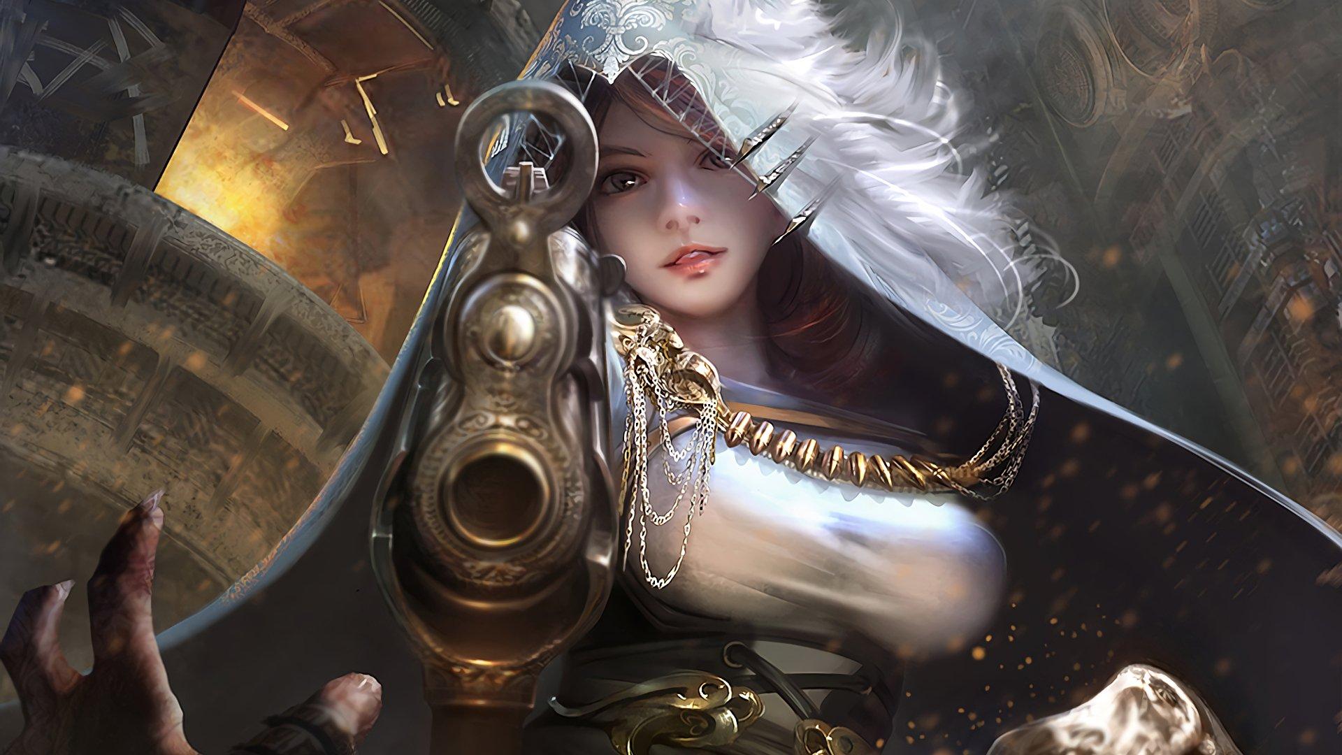 Goth Girl Wallpaper 1440x2960 Women Warrior Hd Wallpaper Background Image 1920x1080