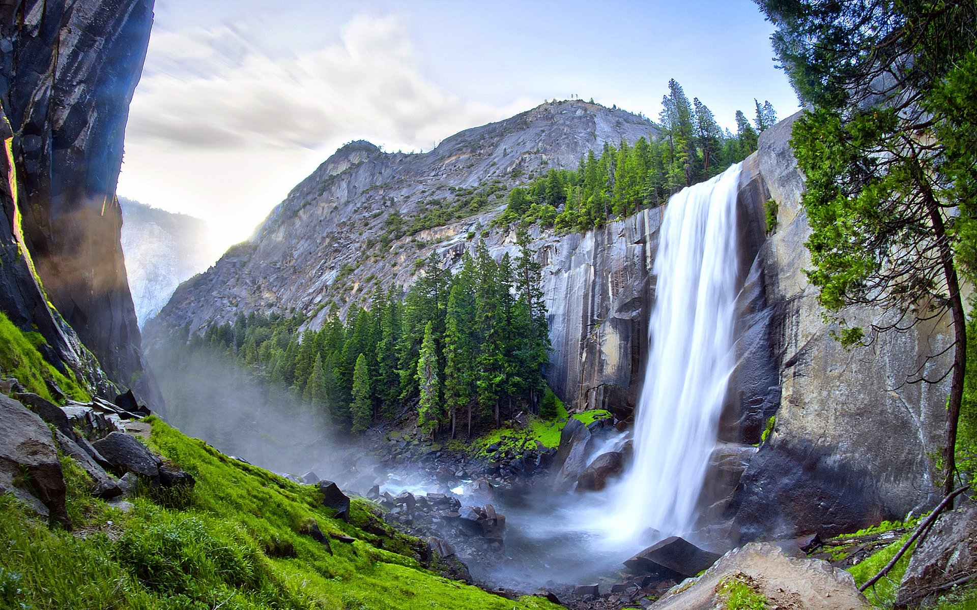Fall Wallpaper For Large Monitors Waterfall In Yosemite National Park Fond D 233 Cran Hd