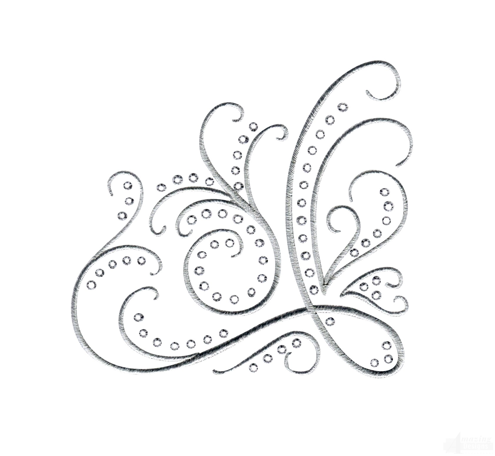 Accent Designs Dazzling Scroll Accent 4 Embroidery Design