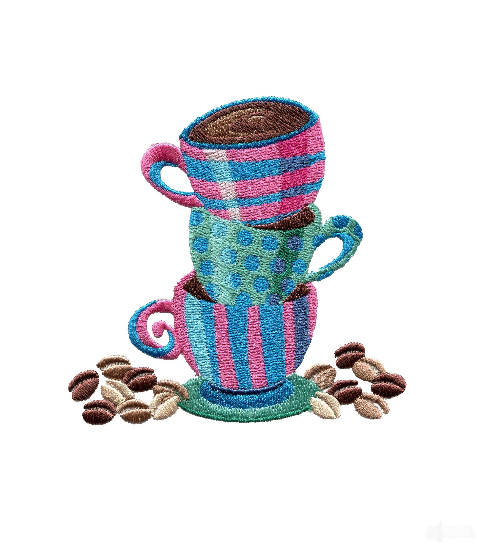 Amazing Stacked Coffee Cups Embroidery Design Coffee Mugs Design Templates Takeaway Coffee Cups Design furniture Coffee Cups Design